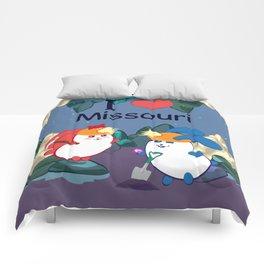 Ernest and Coraline   I love Missouri Comforters