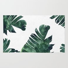 Banana Leaf Watercolor Pattern #society6 Rug