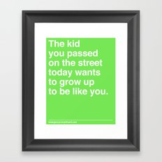 That Kid Framed Art Print