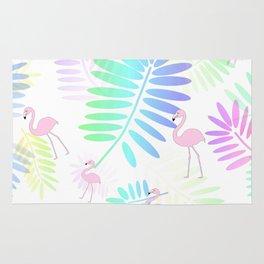 Tropical Pink Flamingos Rug