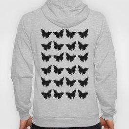 Black Bold Mod Butterflies Hoody