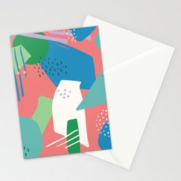 Abstract Brushes 1 Stationery Cards