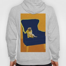 Dog in a chair #2 PUG Hoody