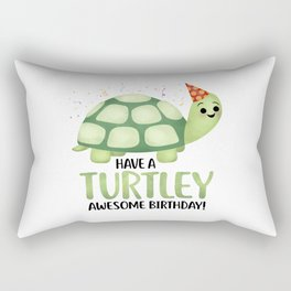 Have A Turtley Awesome Birthday - Turtle Rectangular Pillow