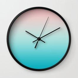 Pastel Ombre Millennial Pink Blue Teal Gradient Pattern Wall Clock
