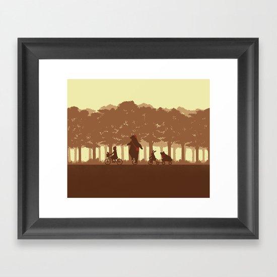Biking with Friends Framed Art Print
