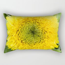 Teddy Bear Sunflower Rectangular Pillow