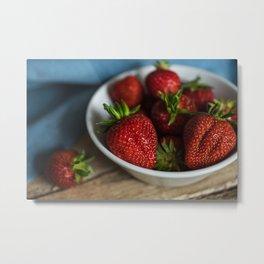Strawberries lover Metal Print
