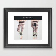 Legging geometric horse rider Framed Art Print