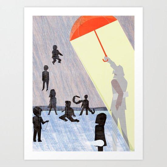Umbrella Academics Art Print