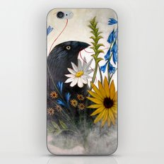 Crow With Red Thread iPhone & iPod Skin