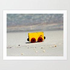 Toy on the beach Art Print