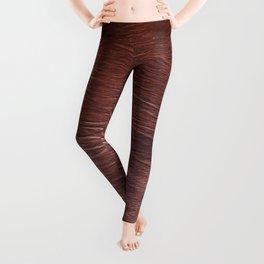 Brown cow fur, cowhide Leggings