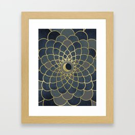 Mystical Moon Mandala Framed Art Print