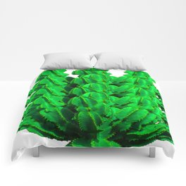Cactus green modern mini-art Summer clothes; Spring is coming; new Cactuses; 2019 Comforters
