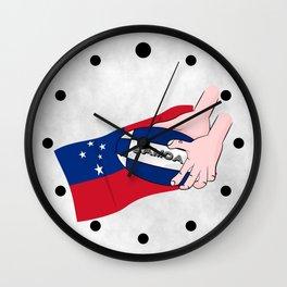 Samoa Rugby Flag Wall Clock