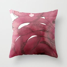 An Intimate of Octopuses Throw Pillow