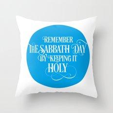 The Fourth Commandment Throw Pillow