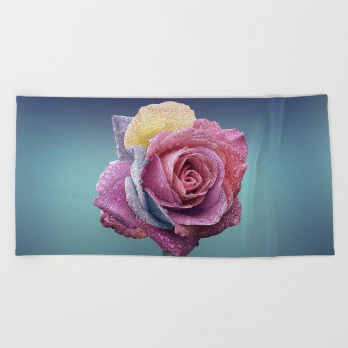 rose flower beauty 4 Beach Towel