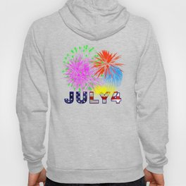 America 4th of July Fireworks Hoody