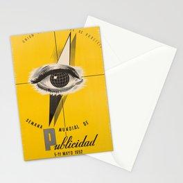 vintage placard semana mundial de publicidad. 1952 Stationery Cards