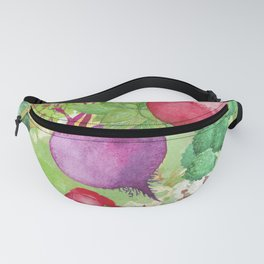 Mixed Vegetables Watercolor Fanny Pack