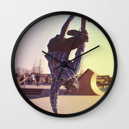 Skateboard Handstand Wall Clock