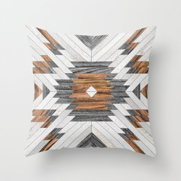 Urban Tribal Pattern No.8 - Aztec - Wood Deko-Kissen