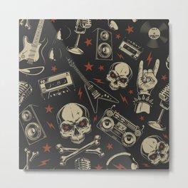 Rock pattern Metal Print