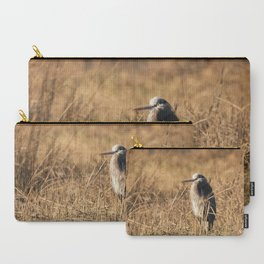 Great Blue Heron in Field Carry-All Pouch