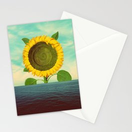 Sun in the ocean Stationery Cards