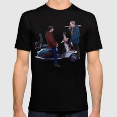 Jimmy Casual Mens Fitted Tee Black MEDIUM