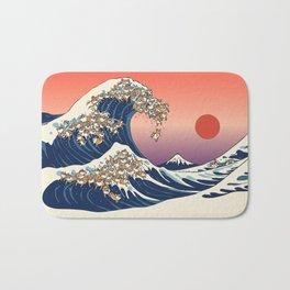 The Great Wave of Shiba Inu Bath Mat