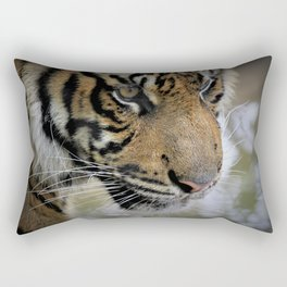 Determined Tiger by Reay of Light Rectangular Pillow