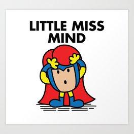 Little Miss Mind Art Print