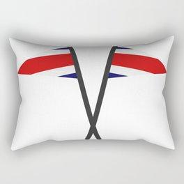 costa rica flag Rectangular Pillow