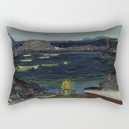 The Harbor Monhegan Coast Maine 1913 Rectangular Pillow
