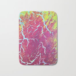 Sunset and thunderstorms abstract acrylic Bath Mat