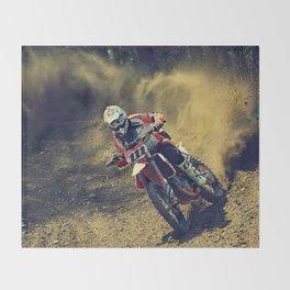 Bike Rider Throw Blanket