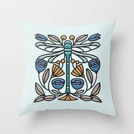 Dragonfly tile Throw Pillow