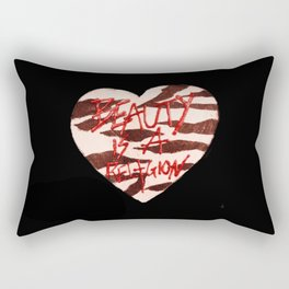 BeautyIsAReligion `ZEBRA HEART` Rectangular Pillow