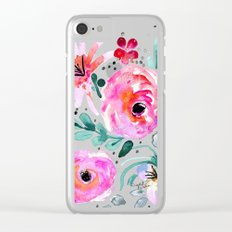 Colby Floral Clear iPhone Case