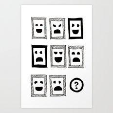 IQ question /sketch/ Art Print