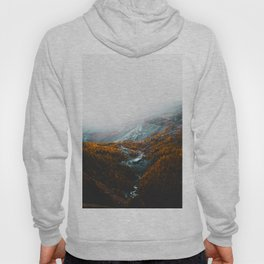 Aerial View Of Orange Autumn Forest Appalachian Mountains Hoody