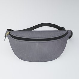 Cool Brushed Metal with a Stamped Design Fanny Pack