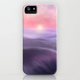 Minimal abstract landscape III iPhone Case