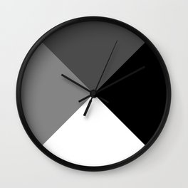 Black, Grey, White Design Wall Clock