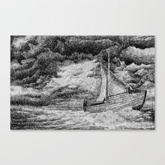 Fingerprint - Sailing Canvas Print