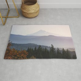Mount Hood over the Columbia River Gorge Rug