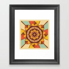 Multicolored geometric flourish Framed Art Print